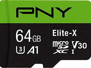 PNY P SDU64GU3100EX GE 64GB Elite X Class 10 U3 V30 MicroSDXC Flash Memory Card