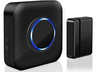 Wireless Door Sensor Chime BITIWEND Alarm Contact Sensor Door Bell for Office Home Store Door Open Chime Window Alarm Operate Range 600ft With 52 Chimes 4 Volume level 1 Door Sensor 1 Plug in Receiver
