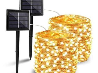 BHClIGHT 2 Pack Each 72FT 200lED Solar String lights  Upgraded Super Durable Solar lights Outdoor  Waterproof Copper Wire 8 Modes Fairy lights for Home Decor Patio Garden Party  Warm White
