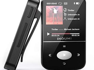 32GB MP3 Player  IHOUMI MP3 Player with Bluetooth  Portable Music Player with Clip  Sport Pedometer  FM Radio  Vioce Recorder  HiFi lossless Sound  Expandable up to 64GB
