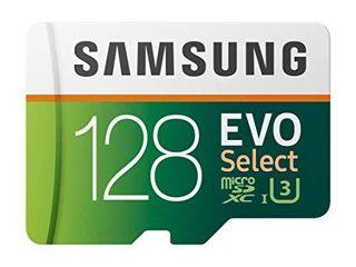 SAMSUNG  EVO Select 128GB MicroSDXC UHS I U3 100MB s Full HD   4K UHD Memory Card with Adapter  MB ME128HA