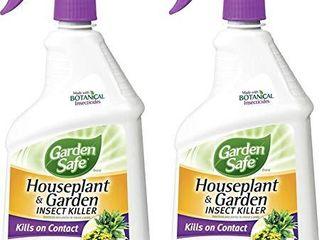 Garden Safe 80422 Houseplant and Garden Insect Killer 24 Ounce Spray  2 Pack