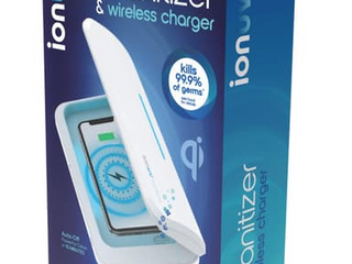 IONUV UV SANITIZER   WIRElESS CHARGER KIllS 99 9  OF GERMS AUTO ON OFF POWERFUl ClEAN IN 10 MINUTES