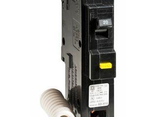 Homeline HOM120GFICP GFCI Circuit Breaker  120 240 VAC  20 A  1 P  10 kA