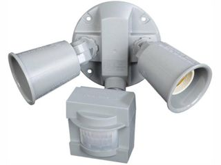 Defiant 110 Degree Outdoor Grey Motion Security light