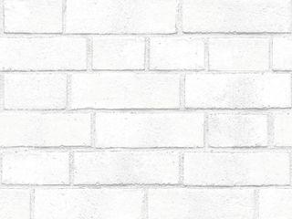 Tempaper Brick Self Adhesive Removable Wallpaper White