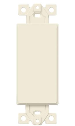 Enerlites 1 Gang Blank Decorator Wall Plate Insert light Almond 10 Pack