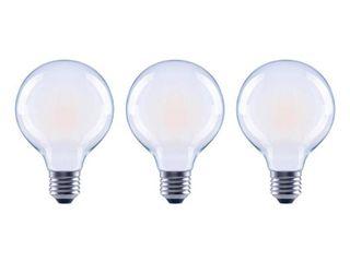 EcoSmart 40 Watt Equivalent G25 Globe Dimmable ENERGY STAR Frosted Glass Filament Vintage lED light Bulb Soft White  3 Pack