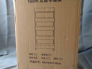 5 TIER SHElF 40x18 8x116CM