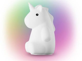 Globe Electric Rylie Unicorn MultiColor changing Integrated lED Rechargeable Silicone Night light lamp  White