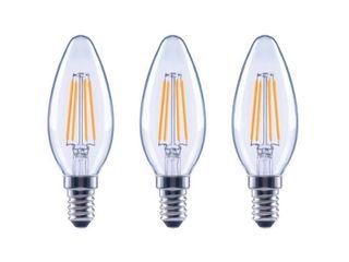 EcoSmart 60 Watt Equivalent B11 Dimmable ENERGY STAR Clear Glass Filament Vintage Edison lED light Bulb Bright White  3 Pack