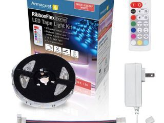Armacost lighting RibbonFlex Home 16 ft  Multi Color   White lED Tape light Kit with Remote