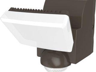 Defiant 180 Degree Bronze Single Battery Motion Sensor Outdoor Integrated lED Flood light with 500 lumens