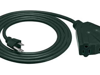 Heavy duty Indusrtial Extension Cord 3 prons Adapter  Green