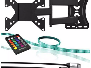 Color Home TV Bundle TV Wall Mount lED light Strip And HDMI Cable