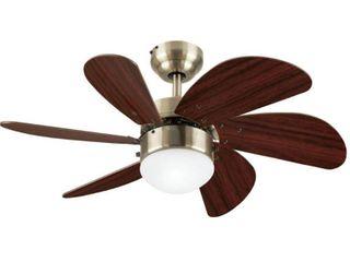 Westinghouse Turbo Swirl 30 in  Antique Brass Indoor Ceiling Fan