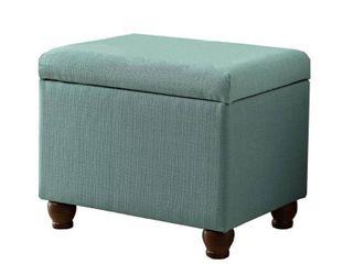 homepop textured storage bench Aqua  Retail 79 98