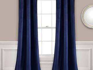 Set of 2  84 x38  Prima Velvet Room Darkening Window Curtain Panels   lush DAccor