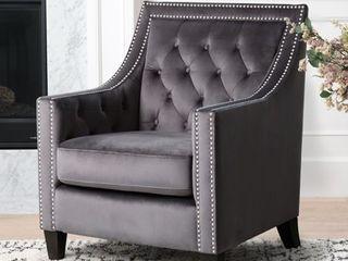 Abbyson Valentina Tufted Nailhead Accent Chair  Retail 353 99