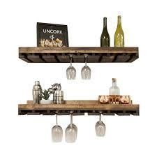 Handmade Del Hutson Designs Rustic luxe Wine Bottle and Stemware Set  Retail 76 98