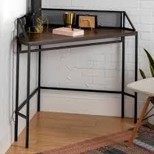 Carbon loft 42 inch Mesh Back Corner Computer Desk  Retail 162 99 dark walnut
