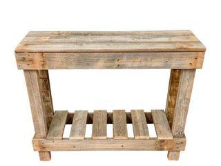 Handmade Del Hutson Designs Barnwood Sofa Table  Retail 94 49