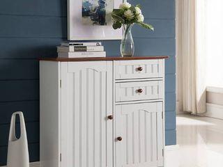 White Wood Kitchen Storage Cabinet  Retail 174 49 white