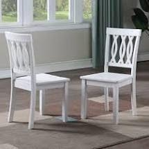 Porch   Den Nella White Side Chair  Set of 2  Retail 129 99 white