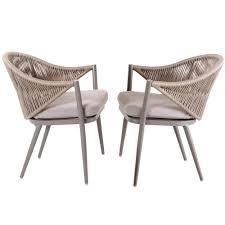 NUU GARDEN Aluminum Woven Rope Patio Dining set   Retail 321 99 grey