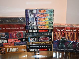large lot of Assorted World War 2 Documentaries   More on VHS