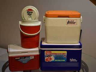lot of 4 New   Vintage Coolers