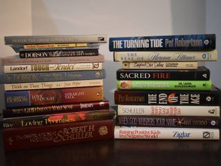 large lot of Assorted Religious   Relationship Books
