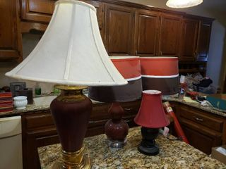 lot of 4 Assorted Table lamps