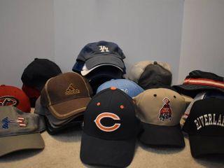 large lot of Assorted Ball Caps   Hats   lA Dodgers  Adidas    More