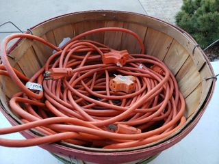lot of 5 Extension Cords With 2 Socket Multipliers