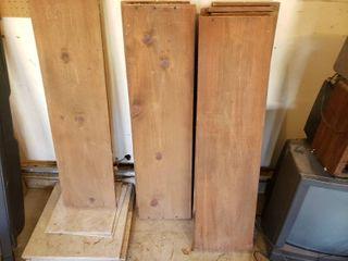lot of 7 Wooden Shelves   9 Tiles   Shelves   42  x 11  larger Tiles   18  x 18