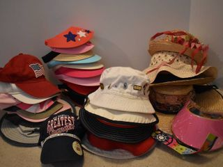 large lot of Assorted ladies Hats