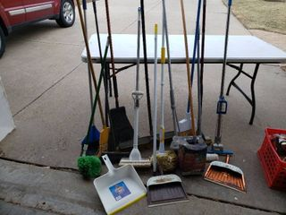 large lot of Assorted Cleaning Tools