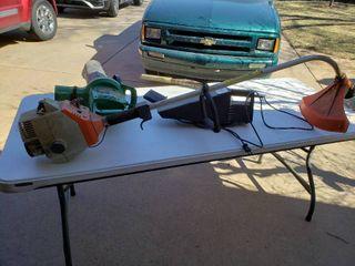 lot of 3 Garage Items   Barracuda Super Blower Mulching Vac  Stihl  FS 36    A Handheld Shop Vac