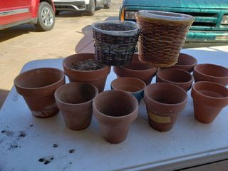 lot of 13 Small Assorterted Plant Pots