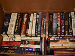 large lot of Assorted Books   Tom Clancy Novels   More