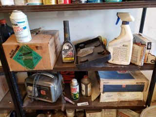 large lot of Assorted Car   Home Care Products   lot Includes   Battery Charger  Untested  Freon  Air Filters    More