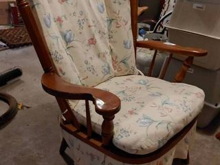 Wooden Cushioned Chair   29  Wide x 40  Tall