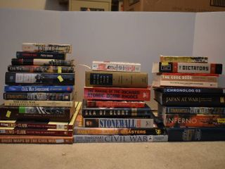 large lot of Assorted History   War Books