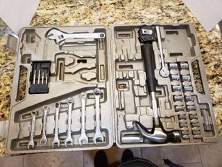 Plastic Toolbox with Ratchet and Wrench Set