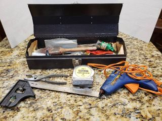 Small Black Toolbox with Assorted Tools
