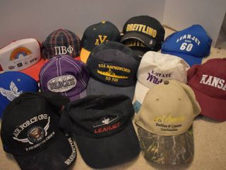 large lot of Assorted Ballcaps