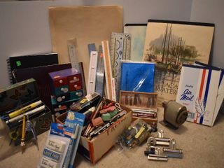 large lot of Art Supplies   Rulers