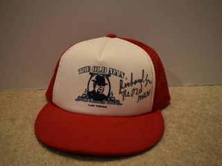 Hand Signed  las Vegas  The Old Man  Gold   Silver Pawn Shop  Hat   Signed by The Old Man Himself