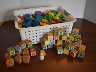 large lot of Assorted Wooden Blocks